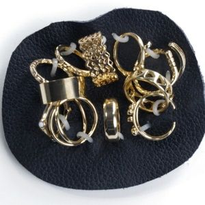Free People Set of 12 Mis-matched Rings